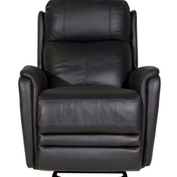 all leather power glider recliner