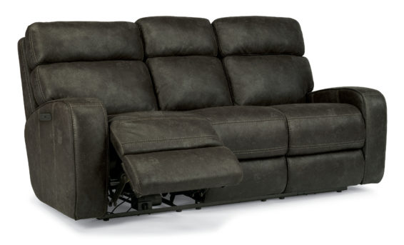 flexsteel tomkins power sofa