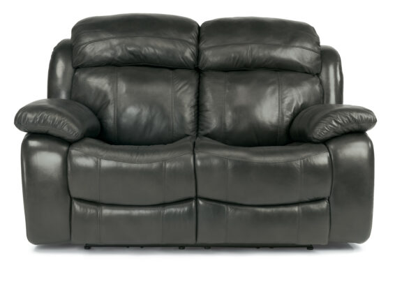 Flexsteel Como Leather Power Loveseat