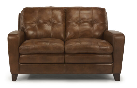Flexsteel South Street All Leather Loveseat