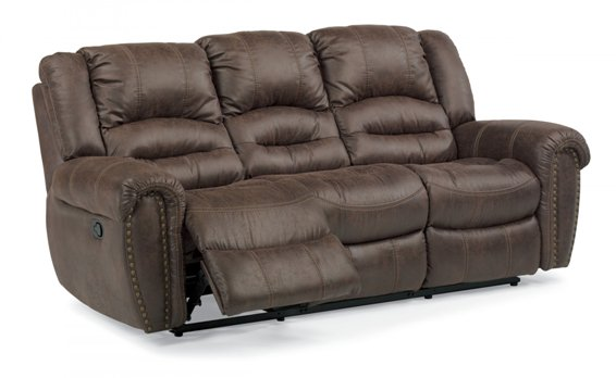 flexsteel downtown reclining sofa