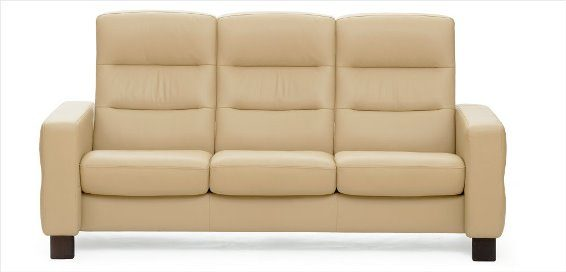 Stressless Wave 3S Sofa High Back