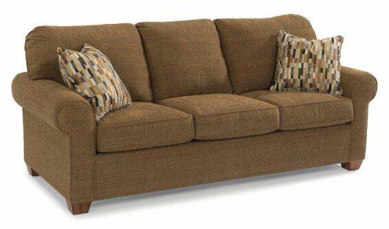 flexsteel thornton sofa dark brown