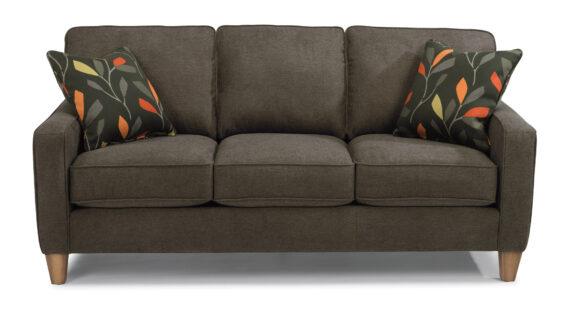 flexsteel macleran sofa dark grey
