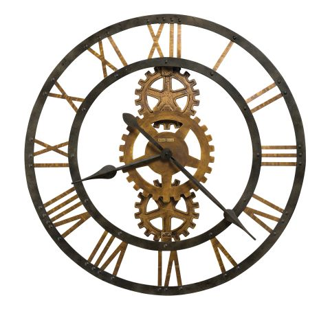 Howard Miller Crosby 30 Inch Wall Clock Brass