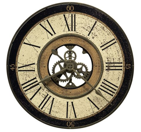 Howard Miller Brass Works 32 Inch Gallery Wall Clock