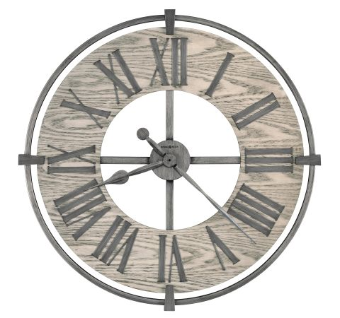 Howard Miller Eli Wall Clock Aged Silver Wood