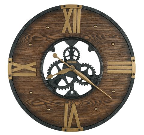 Howard Miller Murano Wall Clock Matte Black Wood