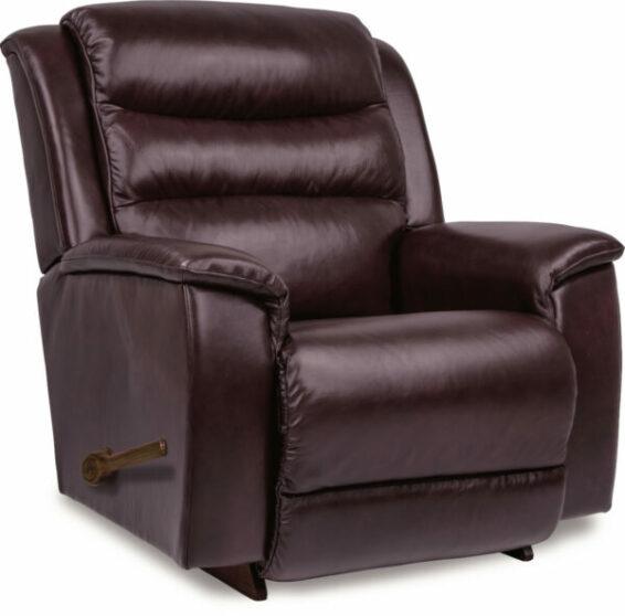 lazboy redwood leather recliner