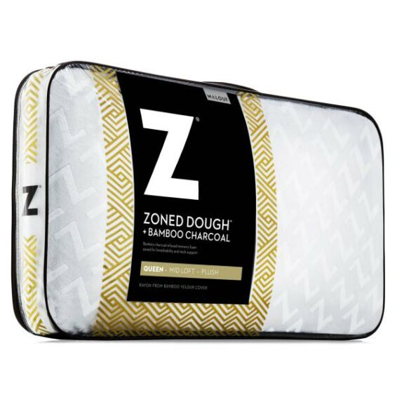 Malouf Zoned Dough Bamboo Charcoal Pillow Queen