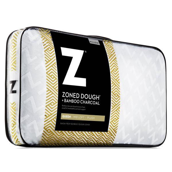 Malouf Zoned Dough Bamboo Charcoal Pillow Queen