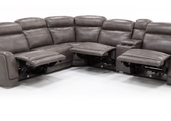 leather power sectional