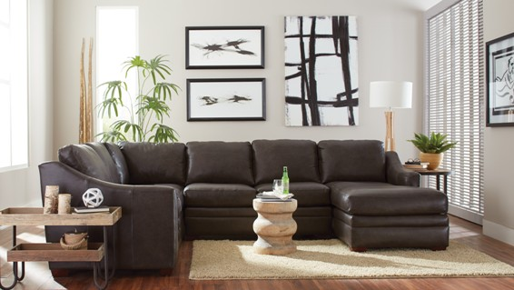 craftmaster leather sectional