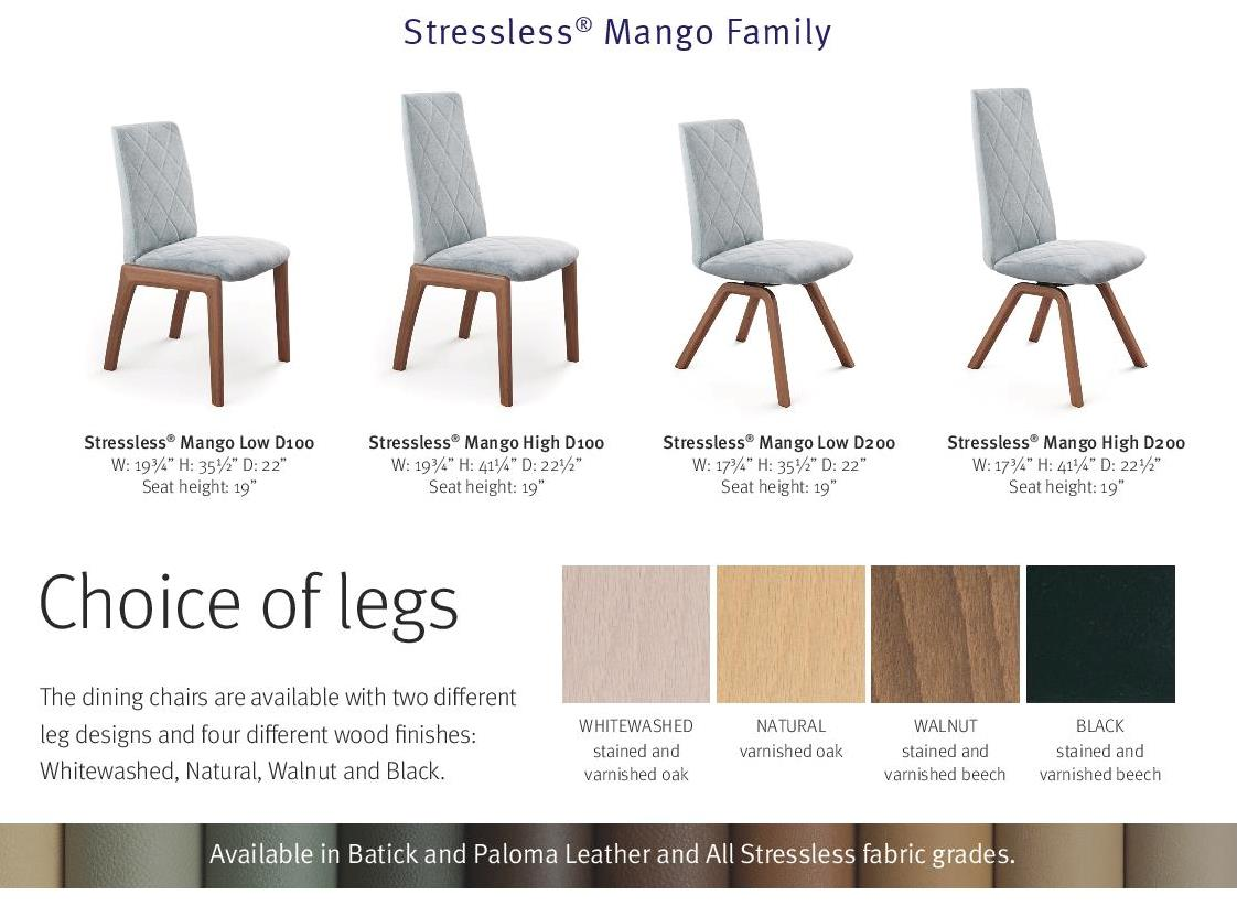stressless mango dining chair