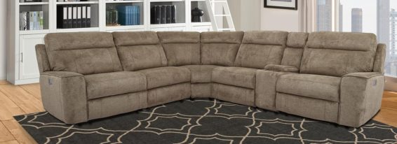 Heather Power Reclining Sectional Power Headrest