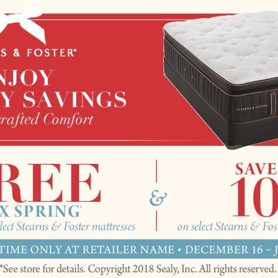 Stearns & Foster Mattress Sale