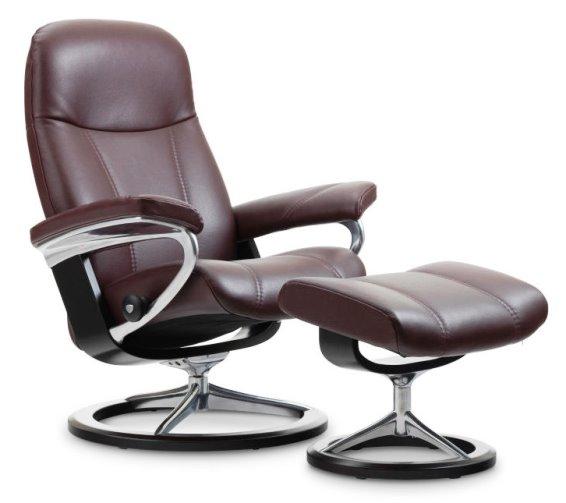 Stressless Consul Small Signature Base Johnson Furniture Mattress Mankato Mn