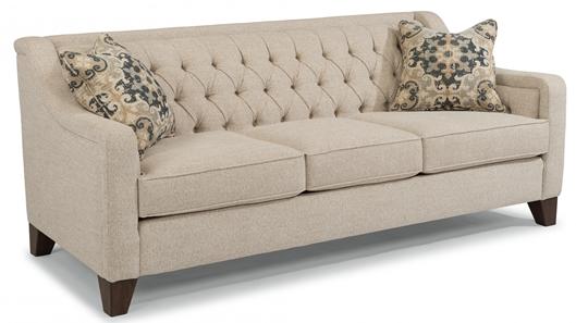 Flexsteel Sullivan Sofa Johnson, Tufted Back Sofa