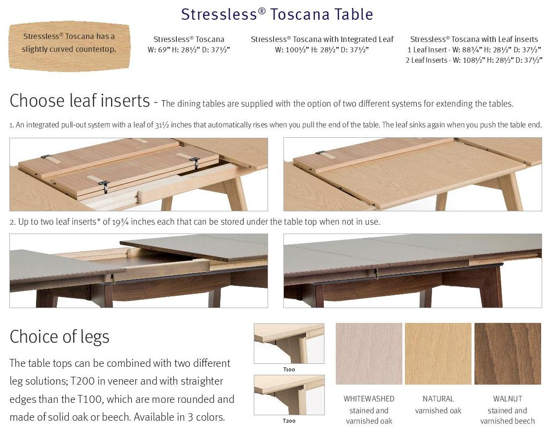 stressless toscana dining table
