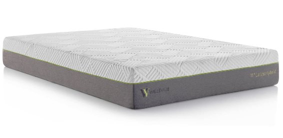 Wellsville 11 Inch Latex Hybrid Queen Mattress