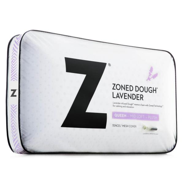 Malouf Zoned Dough Lavender Pillow Queen