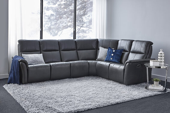 Elran Amelia Power Headrest Reclining Sectional