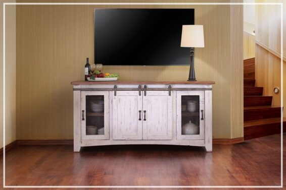 "Weathered White 70"" TV Console"