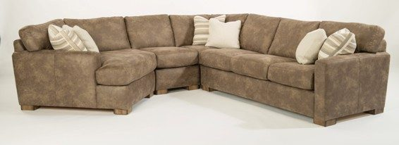flexsteel bryant sectional brown