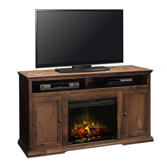 bozeman fireplace tv console
