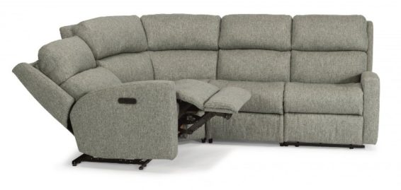 flexsteel catalina power sectional