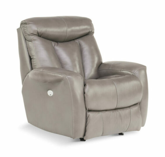 Leather Power Headrest Recliner
