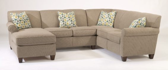 flexsteel dana sectional