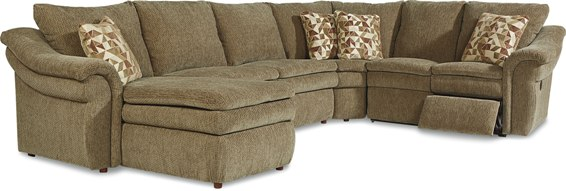 devon lazboy reclining sectional