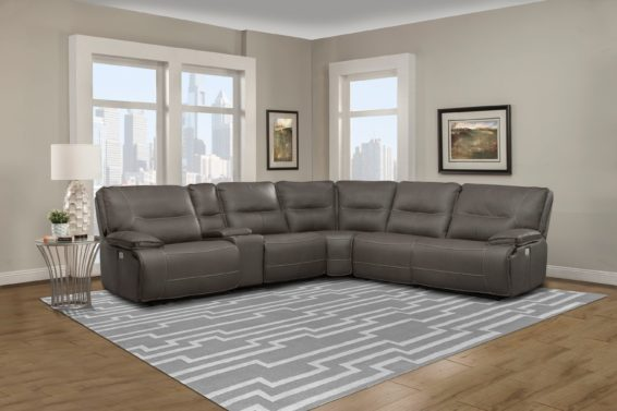 Haze Power Reclining Sectional Power Headrest