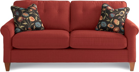 lazboy laurel sofa red