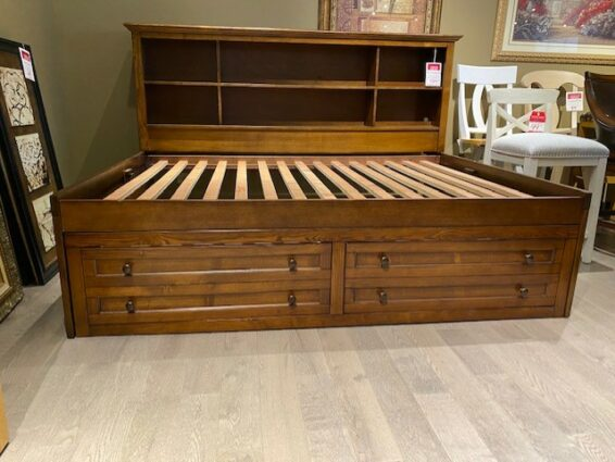 Full Size Lounge Bed with Drawers
