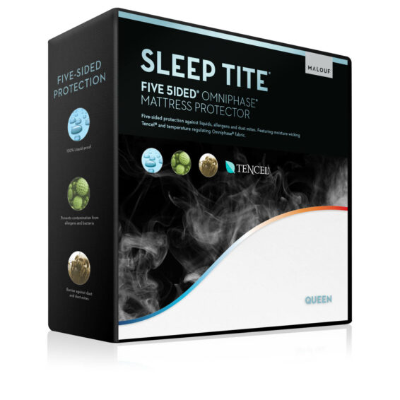 Malouf Sleep Tite Five 5ided Tencel Omniphase Mattress Protector