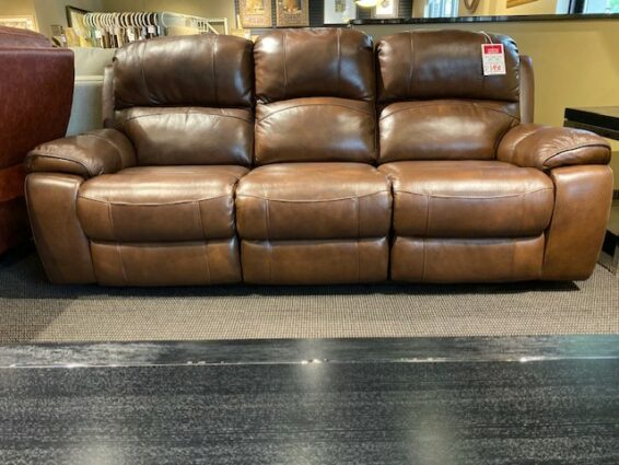 Leather Power Headrest Sofa