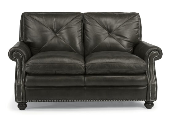Flexsteel All Leather Loveseat
