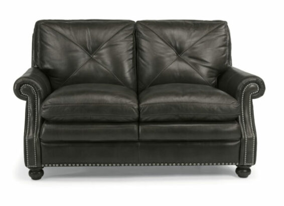 Flexsteel Suffolk All Leather Loveseat