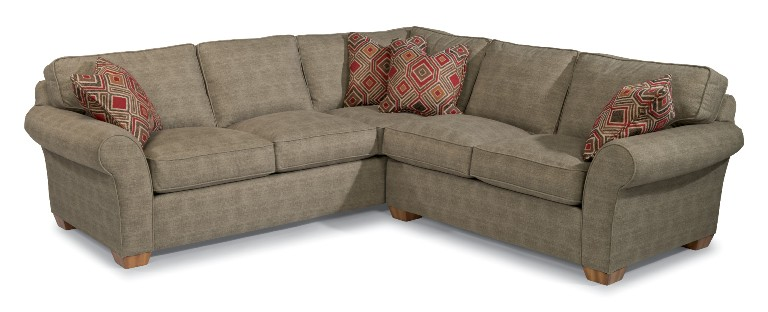 flexsteel vail sectional